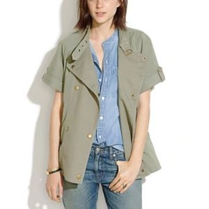 MADEWELL Sahara Short Sleeve Utility Jacket Size S